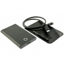 ICY BOX externes Alu-Gehäuse mit USB 3.0 Anschluss für 2,5 Zoll HDD Festplatten SATA, schwarz