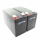 MTXtec Ersatzakku für USV APC Smart UPS 750, ersetzt RBC48 (2 Einzelakkus)